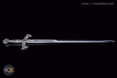 Espada Templaria Plata con Oro